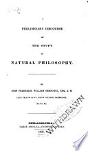 A Preliminary Discourse on the Study of Natural Philosophy