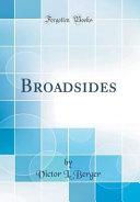 Pdf Broadsides (Classic Reprint)