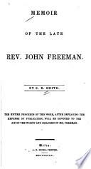 Memoir of the Late Rev. John Freeman