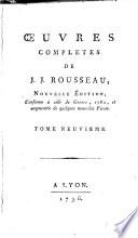 Oeuvres completes de J.J. Rousseau