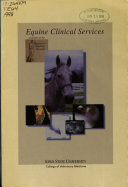 Equine Clinical Services Available at the Veterinary Teaching Hospital