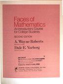 Faces of Mathematics Book