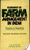 Economics of Farm Management in India Book