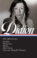 Joan Didion  the 1980s And 90s  LOA  341  Book