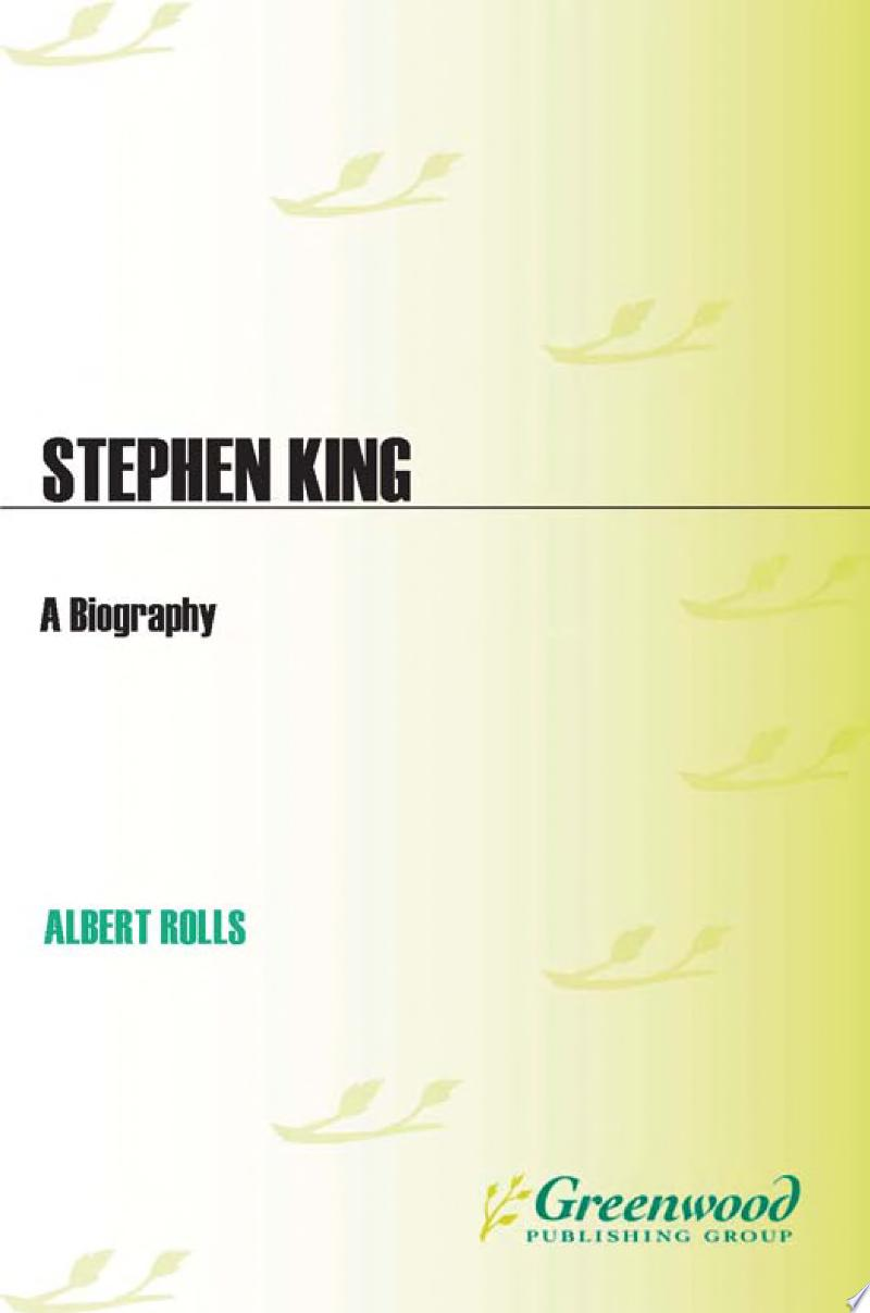 Stephen King: A Biography banner backdrop