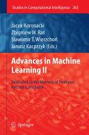 Advances in Machine Learning II Pdf/ePub eBook