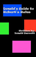 Donald s Guide to Robert s Rules