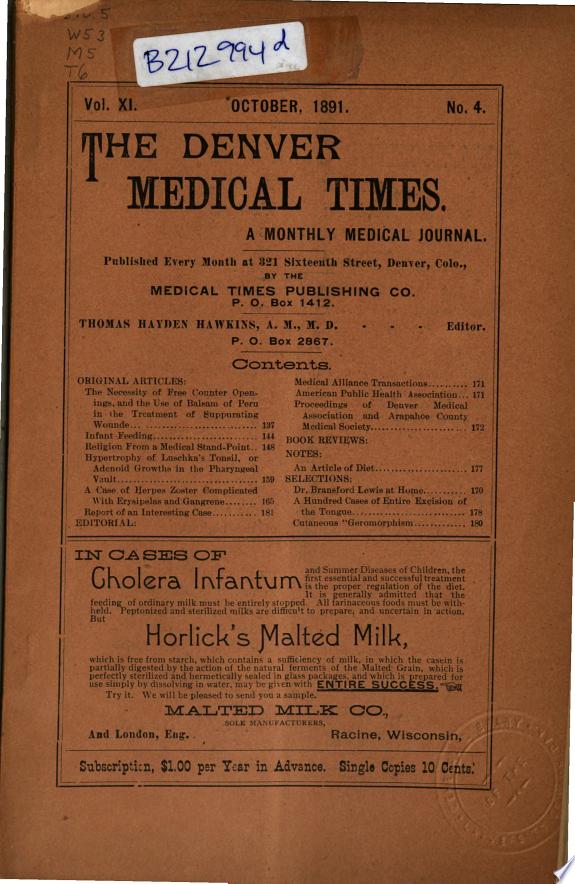 Denver Medical Times