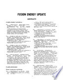 Fusion Energy Update Book