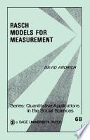 Rasch Models For Measurement Book PDF