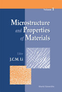 Microstructure and Properties of Materials