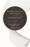 Quantitative Methods In The Humanities