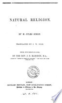 Natural religion  tr  by J W  Cole  ed   with preface and notes  by J B  Marsden