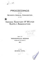 Proceedings of the     Convention of the Indiana Sanitary and Water Supply Association Book