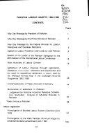 Pakistan Labour Gazette Book