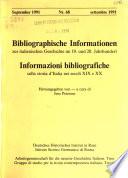 Bibliographische Informationen zur italienischen Geschichte im 19. und 20. Jahrhundert