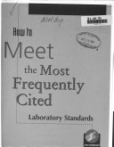 How to Meet the Most Frequently Cited Laboratory Standards Book