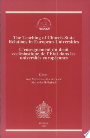 Download Enseignement Du Droit Ecclésiastique de L'état Dans Les Universités Européenes Free Books - E-BOOK ONLINE