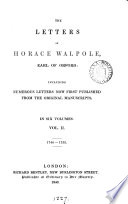 The letters of Horace Walpole [ed. by J. Wright].