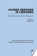 Access Services in Libraries