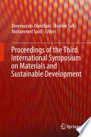 Proceedings of the Third International Symposium on Materials and Sustainable Development