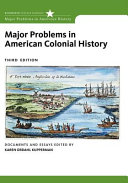 Major Problems in American Colonial History Book