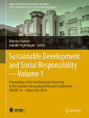 Sustainable Development and Social Responsibility—Volume 1