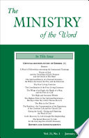 The Ministry Of The Word Vol 21 No 1