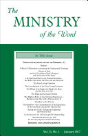 Pdf The Ministry of the Word, Vol. 21, No. 1