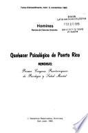 Quehacer psicológico de Puerto Rico