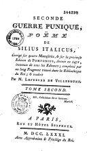Seconde guerre punique, poème de Silius Italicus