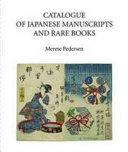 Catalogue of Japanese Manuscripts and Rare Books