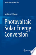 Photovoltaic Solar Energy Conversion Book PDF