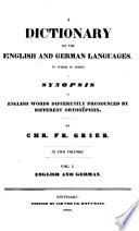 Dictionary of the English and German Languages: English and German