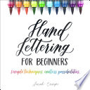 Hand Lettering for Beginners Book PDF