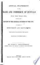 Statistics and Information Relative to the Trade and Commerce of Buffalo