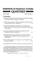 Federation of Insurance Counsel Quarterly