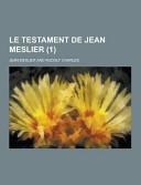 Le Testament de Jean Meslier