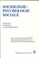Sociologie-psychologie sociale