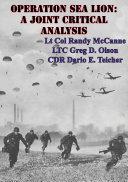 Pdf Operation Sea Lion: A Joint Critical Analysis