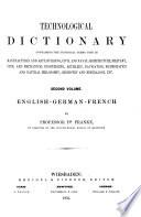 Technologisches W  rterbuch der deutschen  franz  sischen und englischen Sprache Book PDF