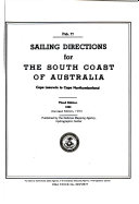 Pdf Sailing Directions for the South Coast of Australia