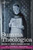 Summa Theologica, Volume 3 (Part II, Second Section) ebook