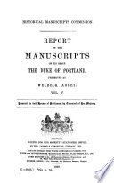 The Manuscripts of His Grace the Duke of Portland
