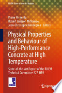 Physical Properties and Behaviour of High Performance Concrete at High Temperature