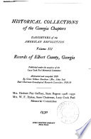 Historical Collections of the Georgia Chapters, Daughters of the American Revolution