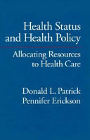 Health Status and Health Policy