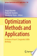 Optimization Methods and Applications Book
