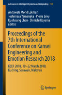 Proceedings of the 7th International Conference on Kansei Engineering and Emotion Research 2018 Pdf/ePub eBook
