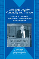 Language Loyalty  Continuity and Change